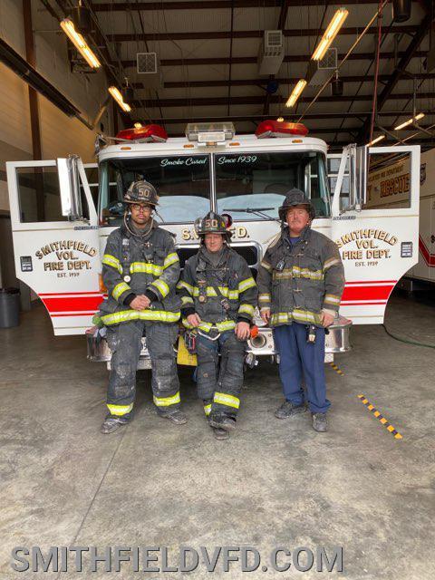 Engine 52 Crew FF Zach (OIC) FF Sanzo (Pump Operator) FF Green (Nozzleman)
