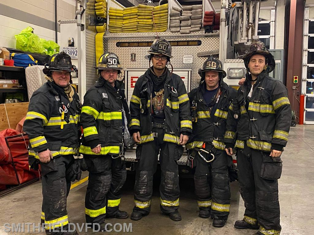 Engine 52 Crew Lt C Smith, FF J Krieger, FF G Sellers, FF C Zach, FF T Green